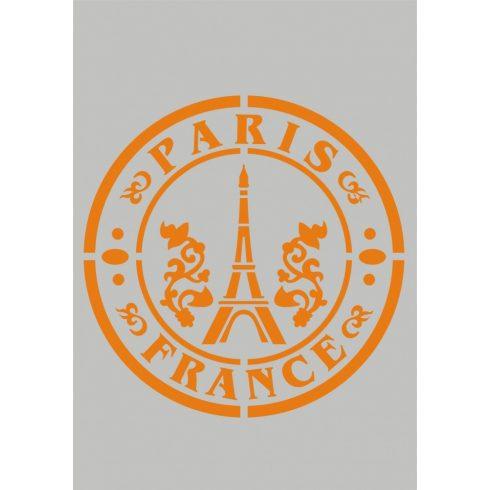 Stencil sablon A5, Párizs