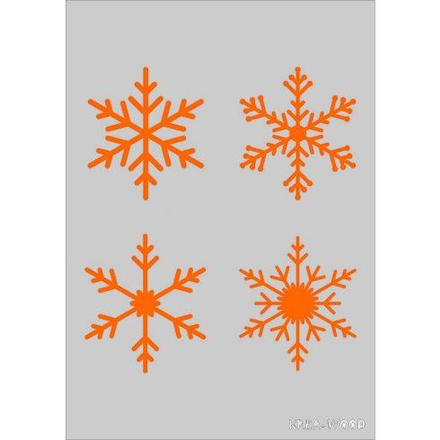 Stencil sablon A5, hópelyhek