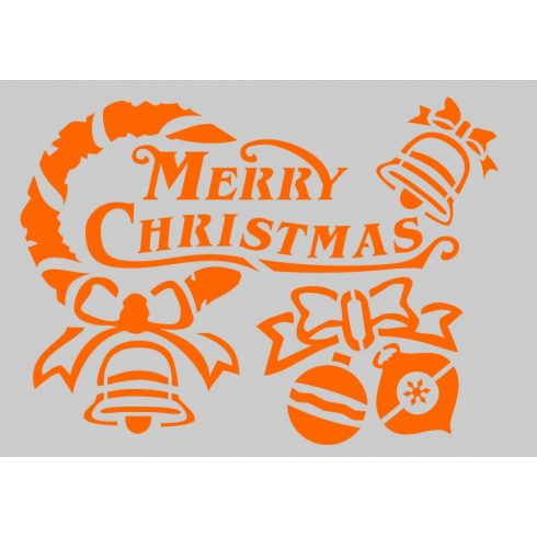 Stencil sablon A5, Merry Christmas