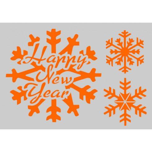Stencil sablon A5, Happy New Year