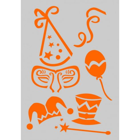 Stencil sablon A5, Happy Birthday