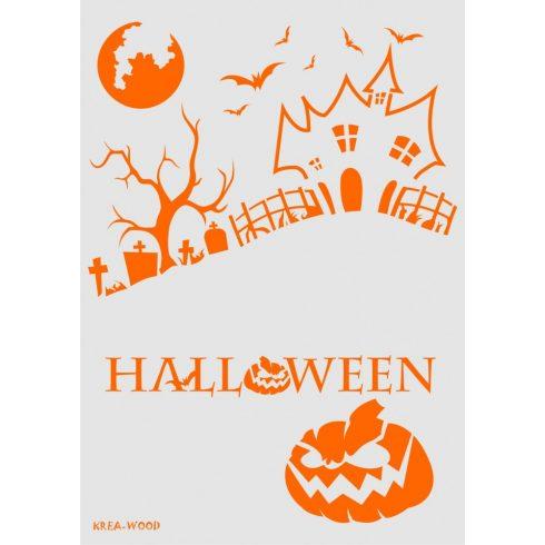 Stencil sablon A4, Halloween