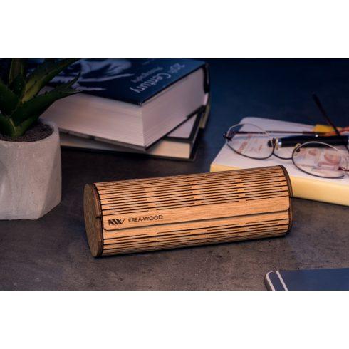 Krea-Wood tölgyfából kézzel készült mágneses olvasószemüveg-tok, natúr színben.