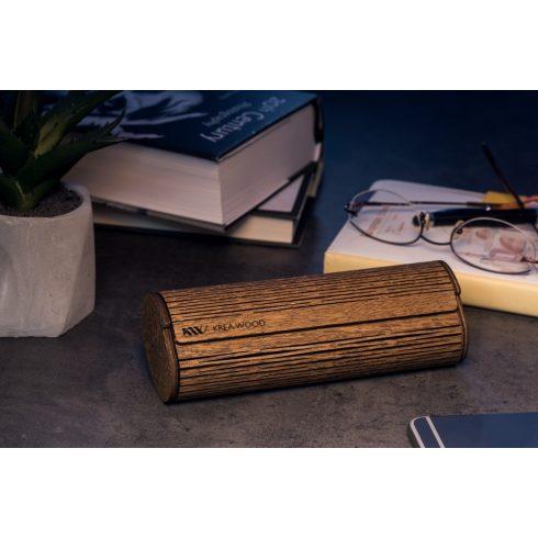 Krea-Wood tölgyfából kézzel készült mágneses olvasószemüveg-tok, barna színben.