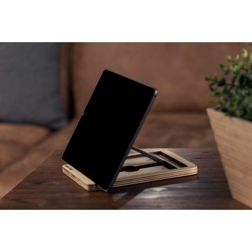 Krea-Wood nyírfából készült tablet tartó állvány, natúr színben