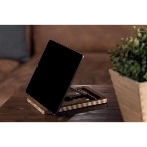 Krea-Wood nyírfából készült tablet tartó állvány, barna színben