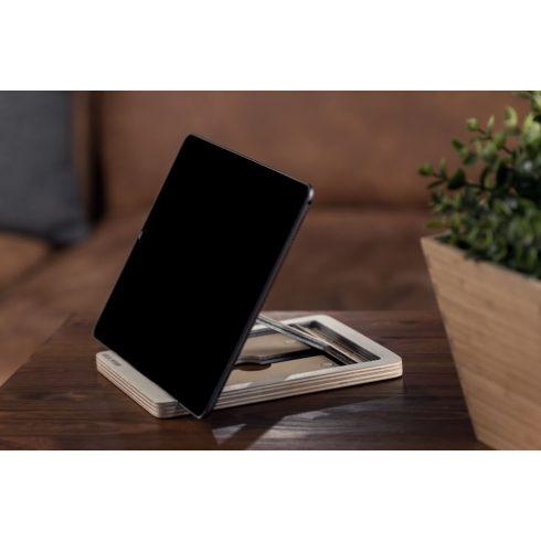 Krea-Wood nyírfából készült tablet tartó állvány, fehér színben